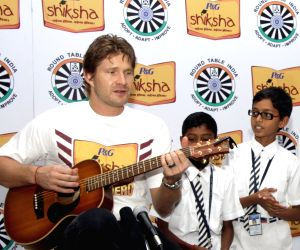 Shane Watson during an awareness programme