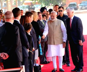 Ceremonial Reception for Australian PM at Rashtrapati Bhavan