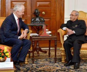 Australian PM calls on President Mukherjee
