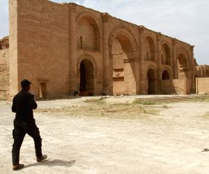 IRAQ-NINEVEH-ANCIENT SITE OF HATRA-IRAQI FORCES-SEIZING