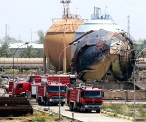 IRAQ BAGHDAD GAS PLANT ATTACK
