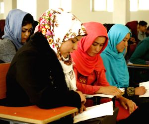 BAMIYAN, Nov. 4, 2018 - University students attend a class at Bamiyan University in Bamiyan province, central Afghanistan, Nov. 4, 2018. Established around two decades ago, but shut down by the ...