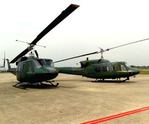 Rimba Air Force Base: Decommissioning ceremony of RBAirF Helicopter BELL212 Service