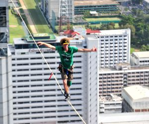 169 meters long slackline
