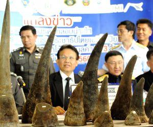 THAILAND BANGKOK RHINOCEROS HORN SEIZURE