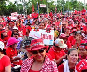 A rally on the outskirts of Bangkok
