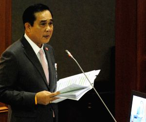 Prayuth Chan-ocha delivers his government's policy statement