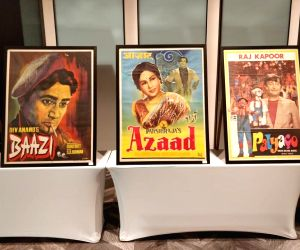 Bangkok (Thailand): Eexhibition of old Bollywood film paintings and posters in Bangkok, held ahead of IIFA (International Indian Film Academy) Awards on June 21, 2018.