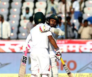 Bangladesh captain Mushfiqur Rahim and Mehedi Hasan