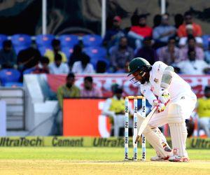 Bangladesh captain Mushfiqur Rahim bats