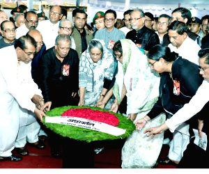 Dhaka (Bangladesh): Bangladesh PM pays tribute to 'Aug 21 grenade attacks' victims