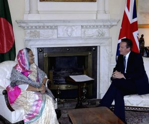 London (England): Sheikh Hasina meets David Cameron