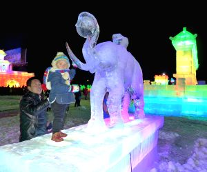 CHINA-INNER MONGOLIA-ICE AND SNOW-LANTERN