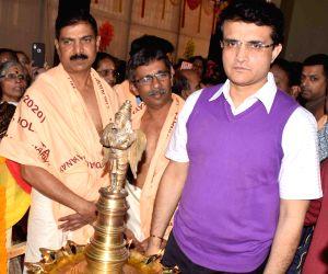 Sourav Ganguly at Silver jubilee celebrations of Sree Guruvayurappan Temple