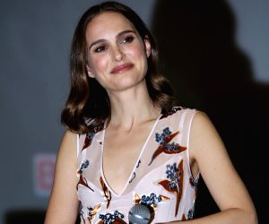 """BEIJING, April 17, 2016 - American director and actress Natalie Portman attends a meeting of her movie """"A Tale of Love and Darkness"""" in Beijing, capital of China, April 17. 2016. The ..."""