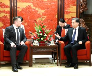 CHINA BEIJING WANG YANG TESLA ELON MUSK MEETING