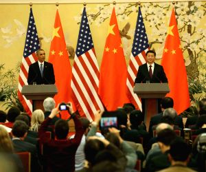 Beijing (China): Xi Jinping meets Barack Obama