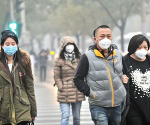 Beijing (China): Heavy smog in Beijing