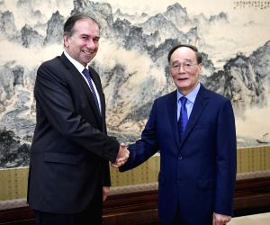 CHINA-BEIJING-ARGENTINA-WANG QISHAN-MEETING
