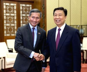 CHINA-SINGAPORE-LI YUANCHAO-FM-MEETING