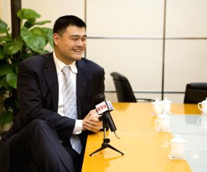 CHINA BEIJING CPPCC NPC YAO MING EXCLUSIVE INTERVIEW