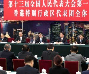 CHINA BEIJING WANG HUNING NPC PANEL DISCUSSION