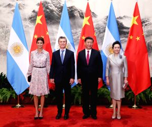 CHINA BEIJING XI JINPING MAURICIO MACRI TALKS