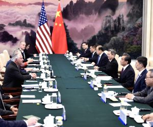CHINA-BEIJING-WANG YI-U.S.-REX TILLERSON-TALKS