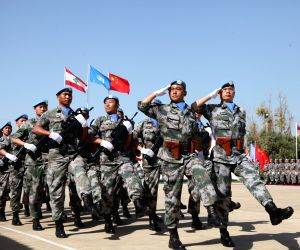 LEBANON-HANNIYAH VILLAGE-CHINESE PEACEKEEPERS-UN PEACE MEDAL OF HONOR-AWARDING