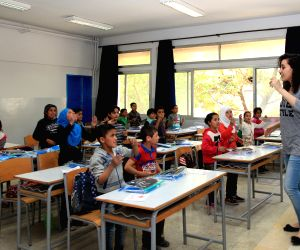 LEBANON BEKAA TOWN SYRIAN REFUGEES CHINA EDUCATIONAL AID