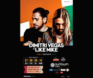 Dimitri Vegas, Like Mike to perform in India