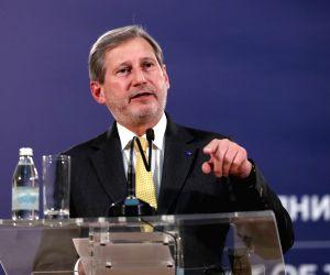 SERBIA BELGRADE PRESIDENT EU COMMISSIONER MEETING