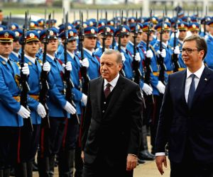 SERBIA BELGRADE TURKISH PRESIDENT ERDOGAN VISIT