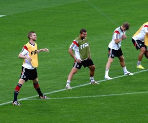 Belo Horizonte: Players of Germany during a training session in Belo Horizonte