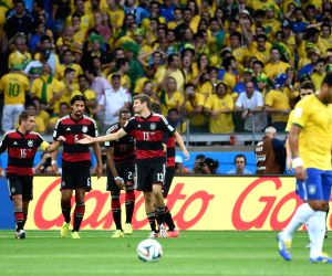 Belo Horizonte: Brazil V/S Germany semifinal match of 2014 FIFA World Cup