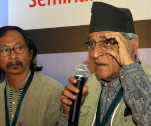Mohan Agashe addresses at the seminar on Contemporary Indian Drama