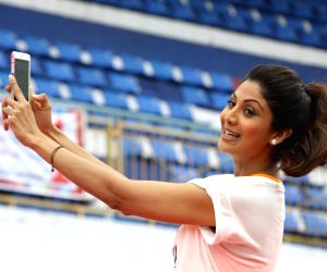 Yoga Day celebrations - Shilpa Shetty