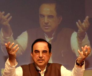 Subramanian Swamy addresses at a seminar on Indian Economic Present Situation