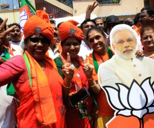 Karnataka: BJP heads for landslide win, Congress, JD-S face rout