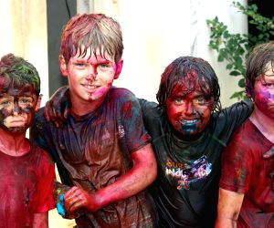 Holi celebrations at international school