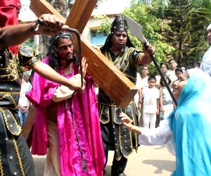 Christians participate in Good Friday procession