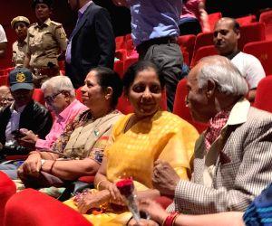 Defence Minister watches 'Uri' in Bengaluru