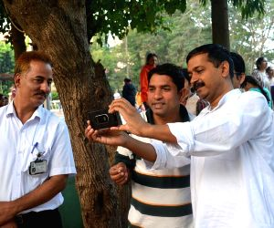 Kejriwal during his treatment at the Jindal Naturecure Institute