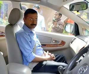 Arvind Kejriwal leaves after naturopathy treatment
