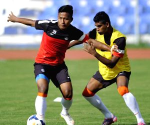 Indian practice session - football