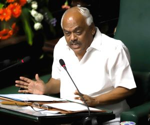 Bengaluru: Karnataka Assembly Speaker K.R. Ramesh Kumar at Karnataka Assembly, in Bengaluru on July 22, 2019. Karnataka Assembly Speaker K.R. Ramesh Kumar on Monday told Chief Minister H.D. Kumaraswamy to face by evening the floor test to prove major