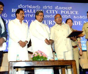Karnataka CM during a property parade