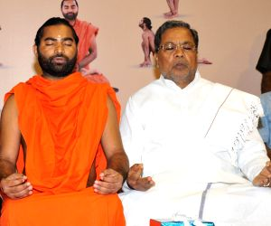 Karnataka CM's at Karnataka Yoga Abhiyana Camp