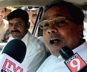 Karnataka CM talks to press