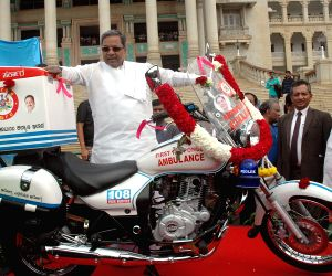 Karnataka CM launches Bike Ambulance